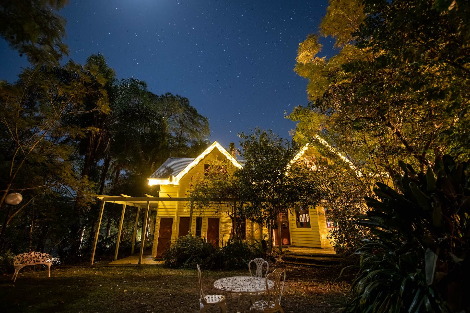Frangipani House Lit Up At Night 1920 x 1280