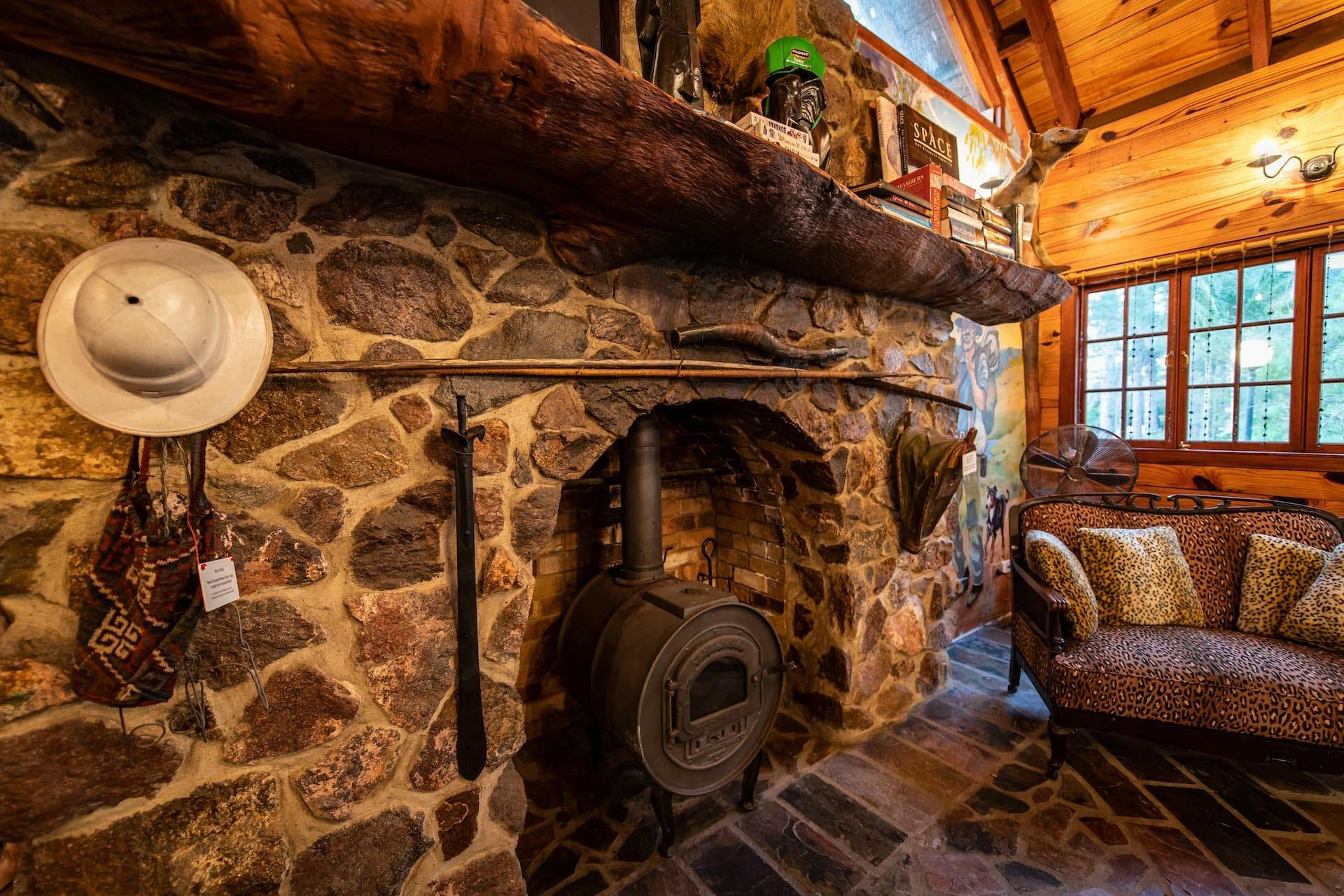 Frangipani House Stone Fireplace and Mantle Shelf 1920 x 1280