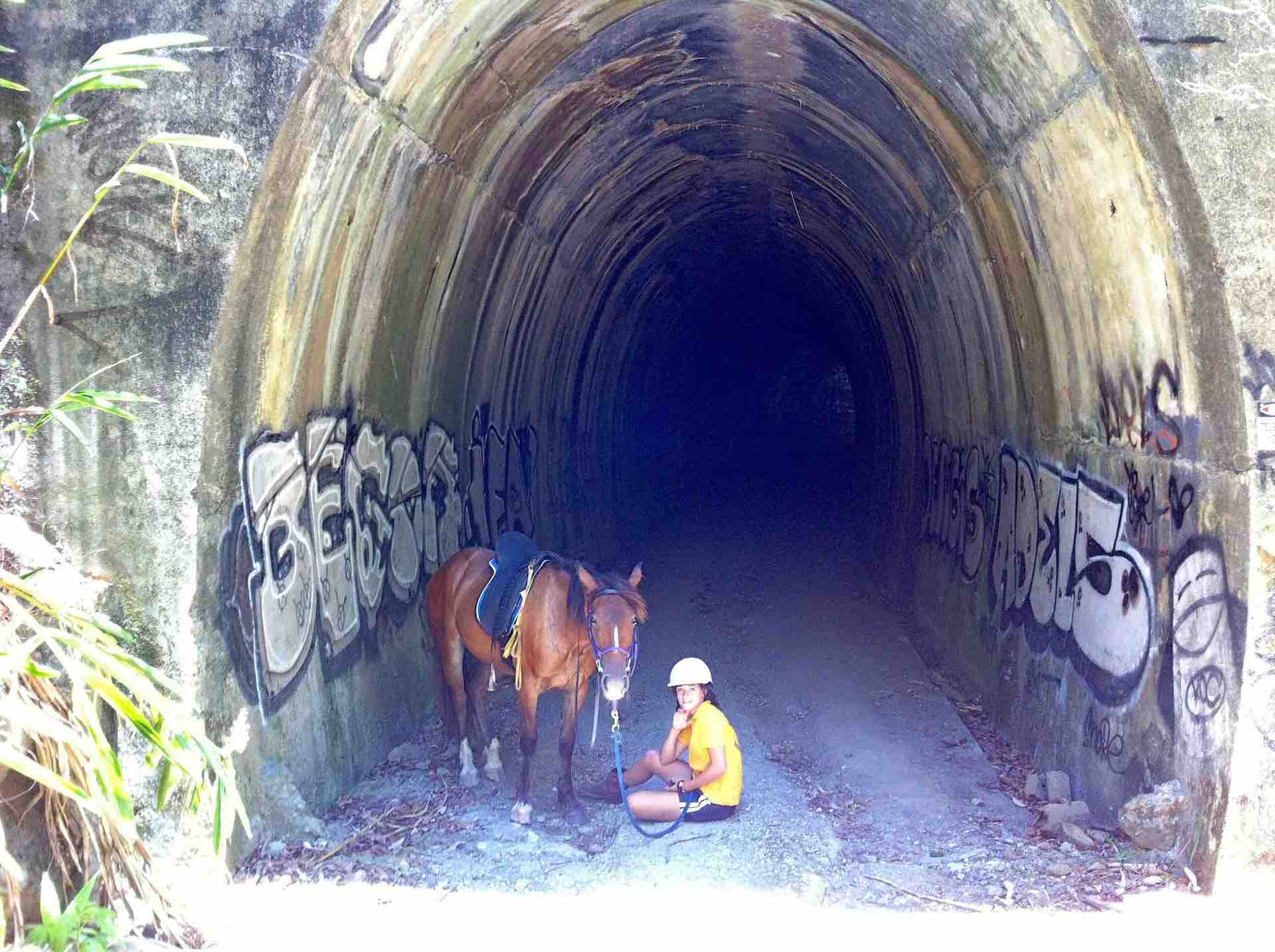 Dularcha Railway Tunnel Horse and Girl 1920 x 1434