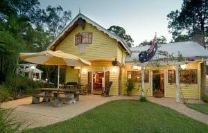 Frangipani House with Australian Flag