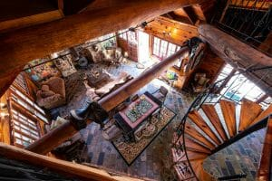 Frangipani House Upstairs Looking Down on Lounge 1920 x 1280