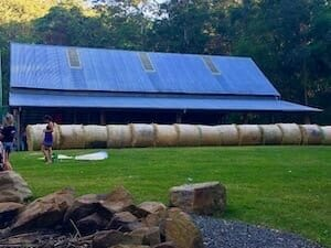 History Large Barn with Hay Bales 300 x 225